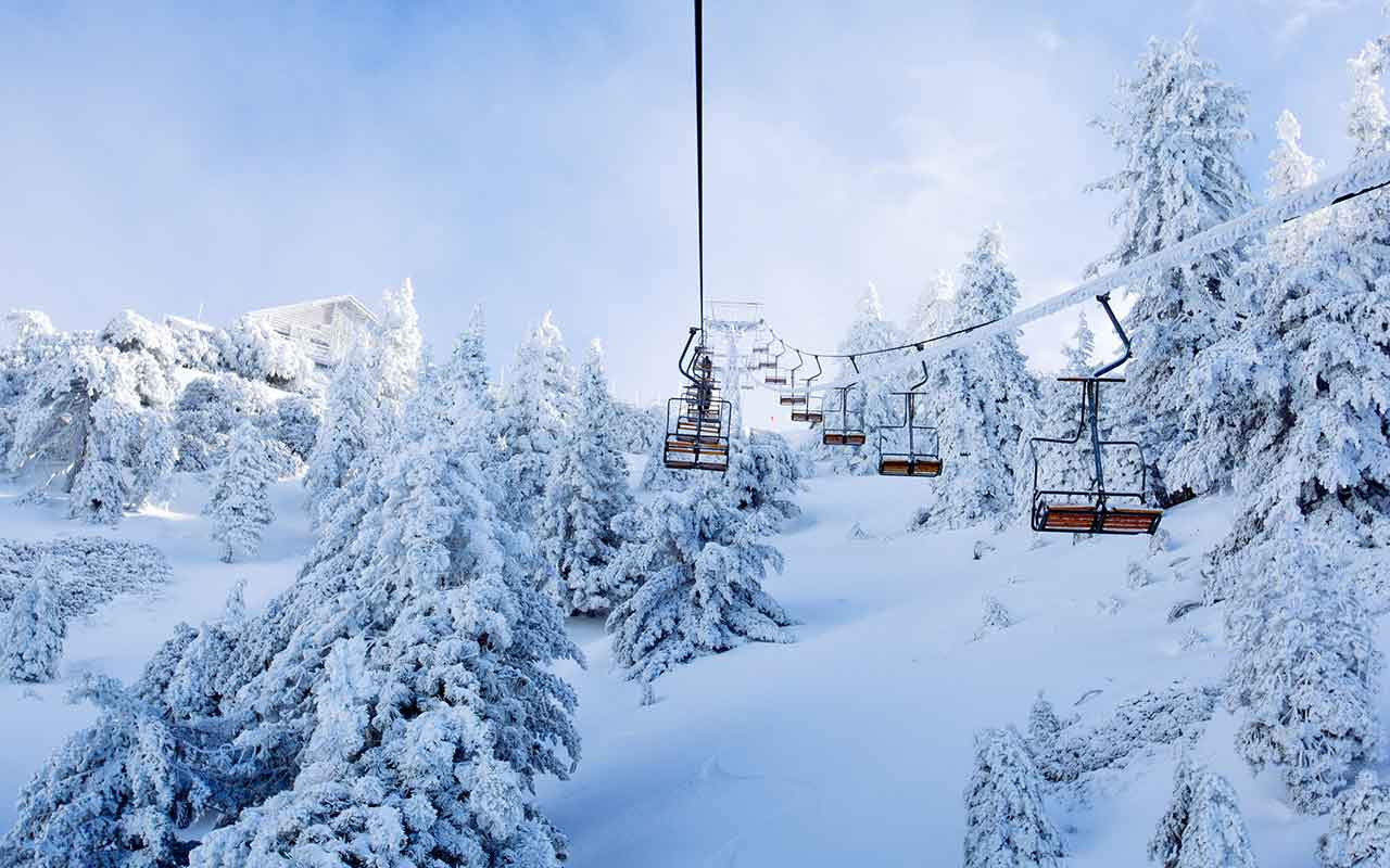 Scenic Lift Rides The Notch Mt Baldy Resort Winter Activities