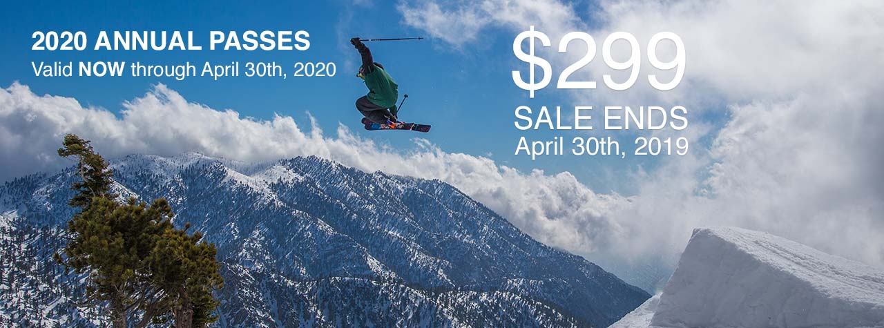 Mt Baldy Season Pass Sale Information Banner
