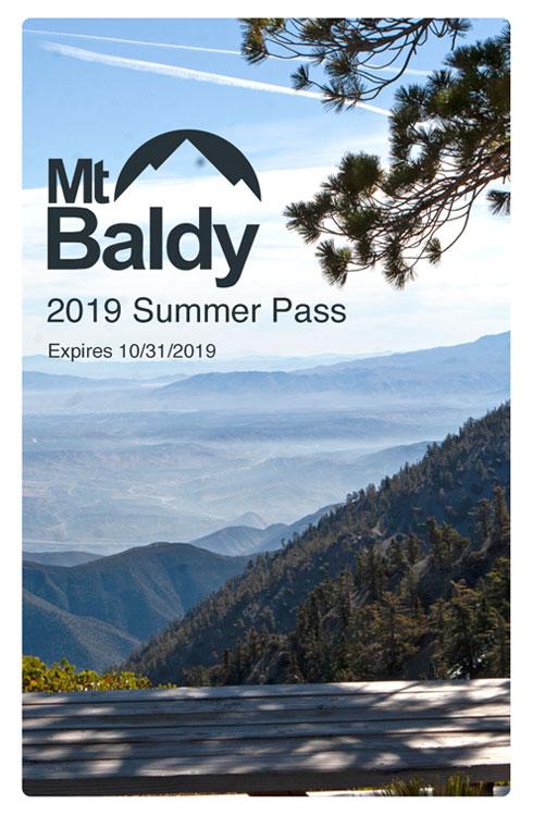 Mt Baldy Resort 2020 Annual Pass