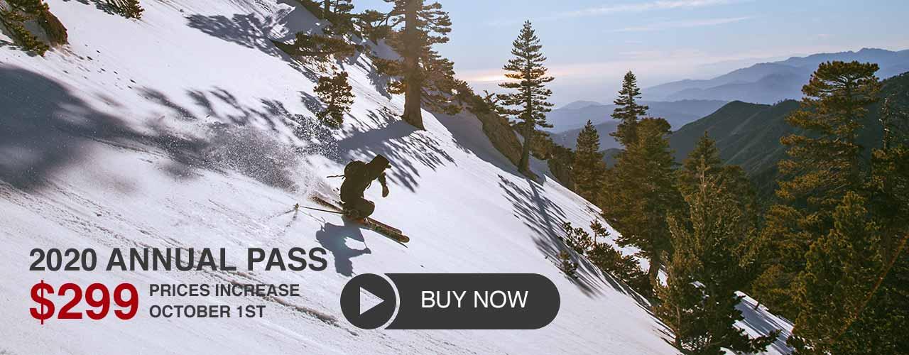 Mt Baldy Season Pass Sale Information Banner