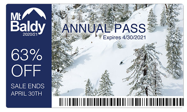 2020/21 Mt Baldy Resort Season Pass Now on Sale